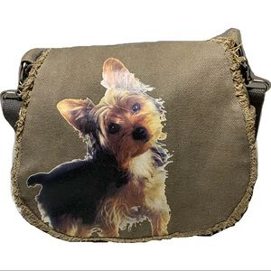 FuzzyNation Yorkie Crossbody Purse